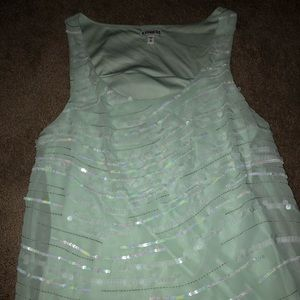 Mint sequin tank top